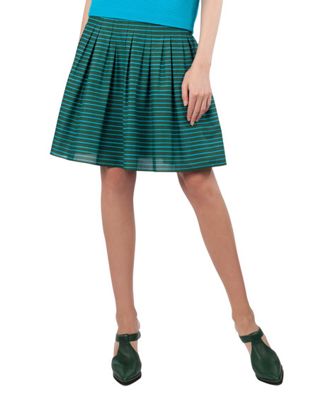 Striped Bell Skirt