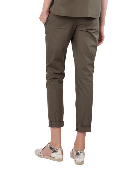 Fallon Straight-Leg Chino Pants
