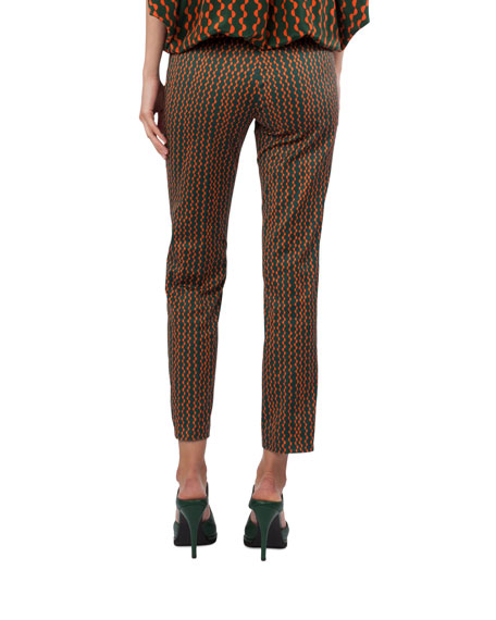 Franca Geometric-Print Pants