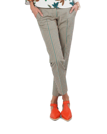 Franklie Striped Seersucker Pants