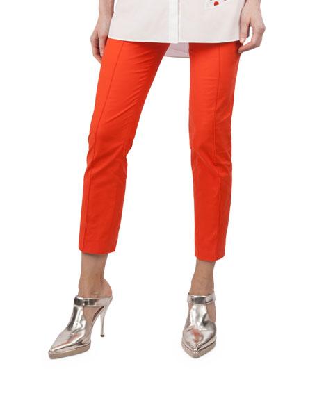 Frankie Stretch-Cotton Pants, Orange