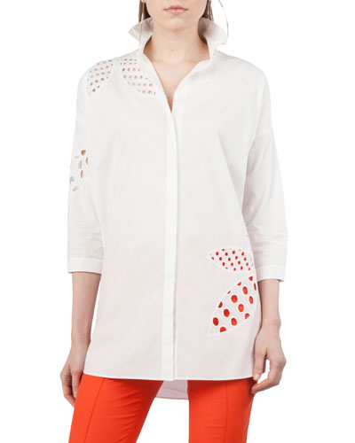 Punto Lace Leaf Blouse