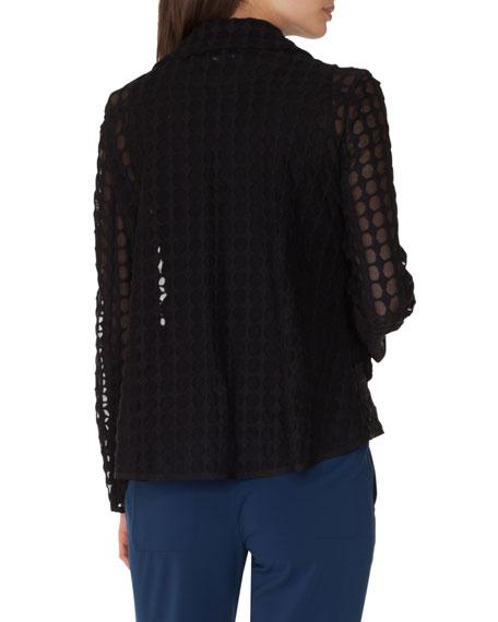 Belted Zip-Front Biker Jacket