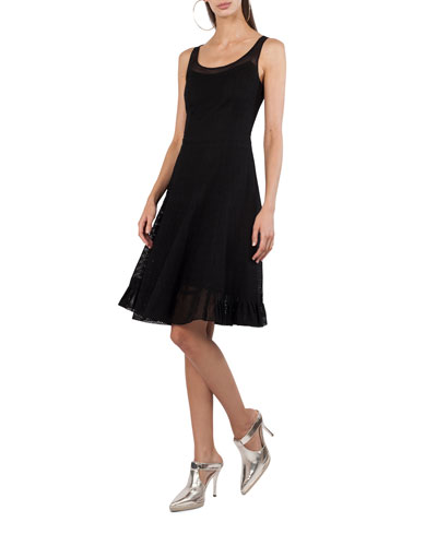 Sleeveless Scoop-Neck Punto Dress