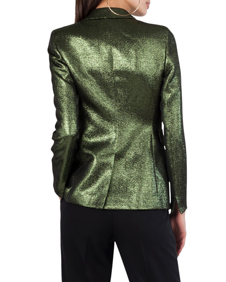 Long Metallic Blazer