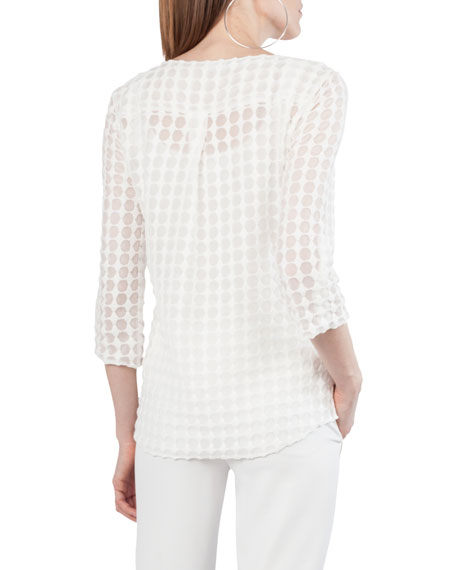 Punto Lace 3/4-Sleeve Top