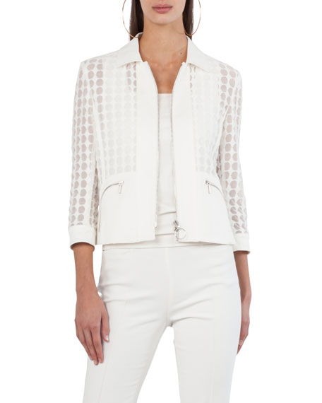 Bracelet-Sleeve Punto Lace Jacket