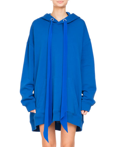 Oversized Hooded Sweatshirt w/ Logo