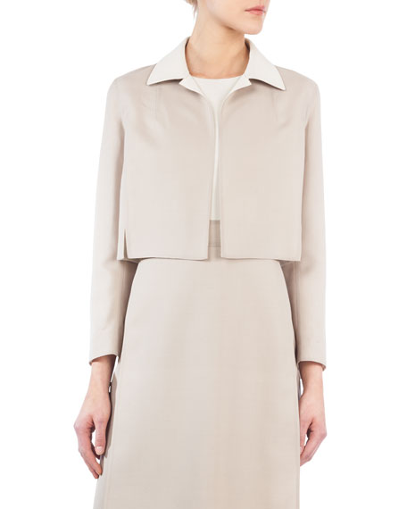 Cropped Notch-Collar Jacket