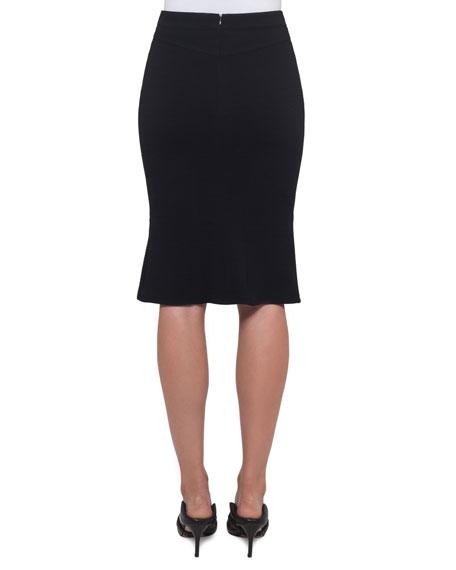 A-Line Wool-Stretch Skirt