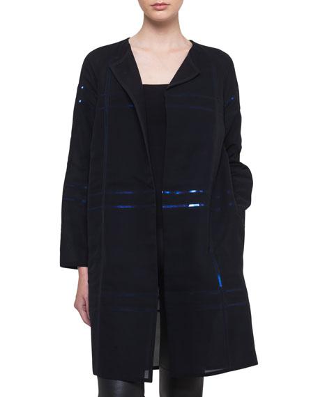Foil Sequin-Embellished Voile Coat