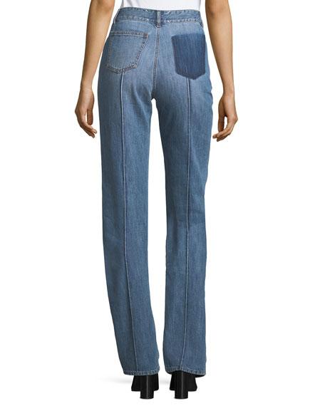 Seamed Denim Jeans