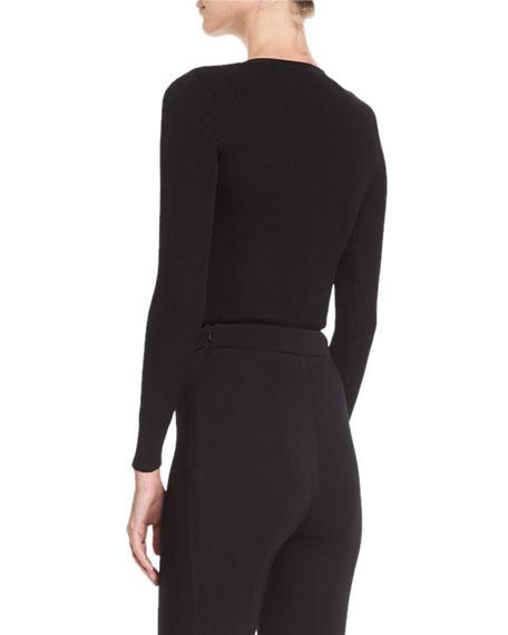 Sienna Knit Cutout Long-Sleeve Top