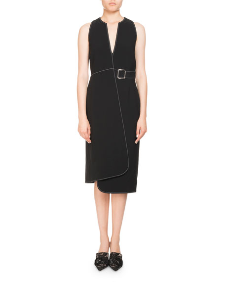 Alvina Sleeveless Asymmetric Wrap Dress