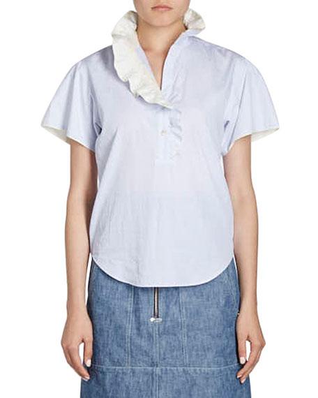 Jen Ruffle-Collar Blouse