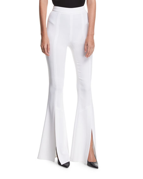 Eden Split-Hem High-Waist Pants