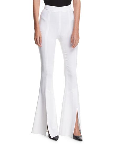 Eden Split-Hem High-Waist Pants