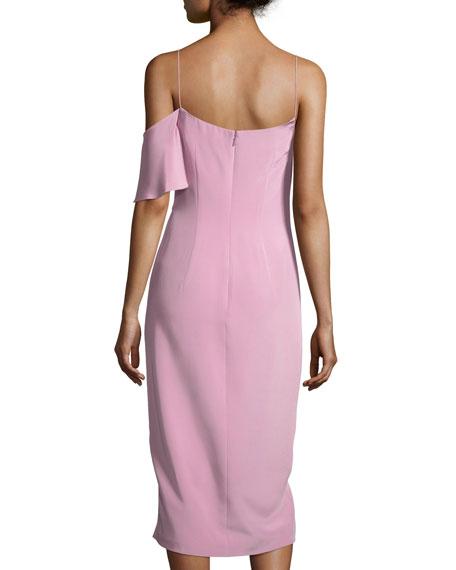 Ruffled Silk Cami Dress