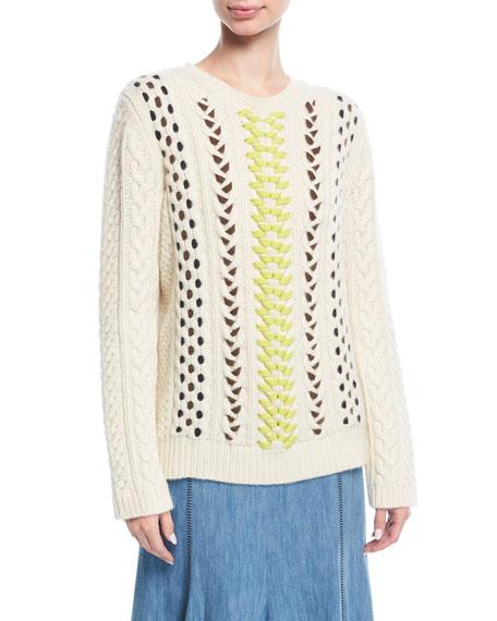 Crewneck Mix-Stitch Sweater