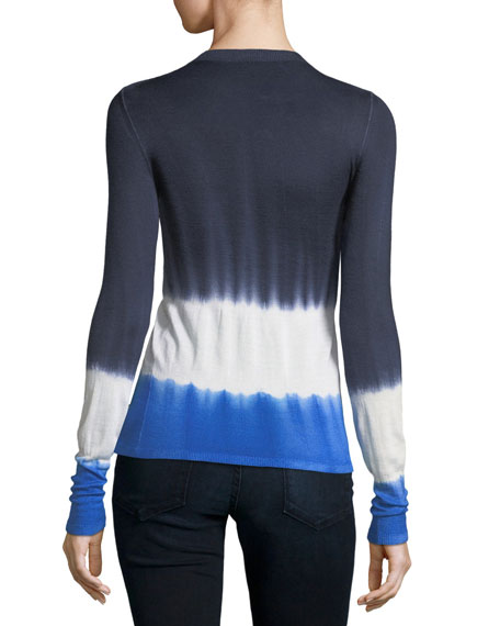 Crewneck Tie-Dye Cashmere Sweater