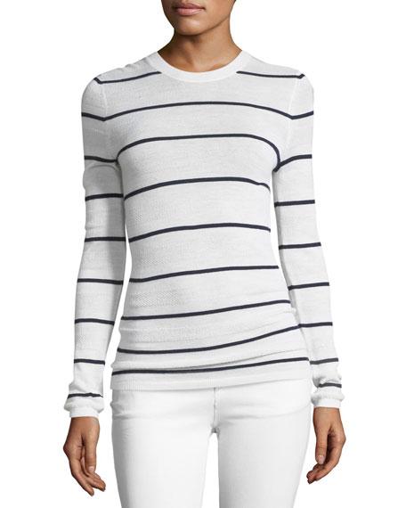 Striped Knit Crewneck Sweater