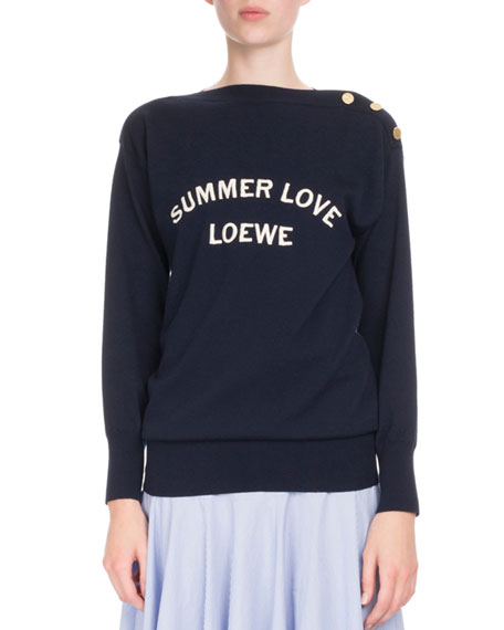 Summer Love Button-Shoulder Sweater