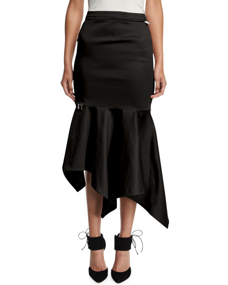 High-Waist Fitted Trumpet Skirt
