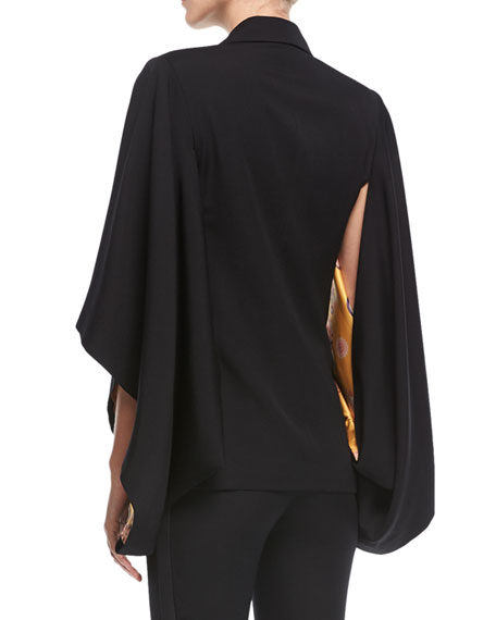 Double-Breasted Cape Jacket