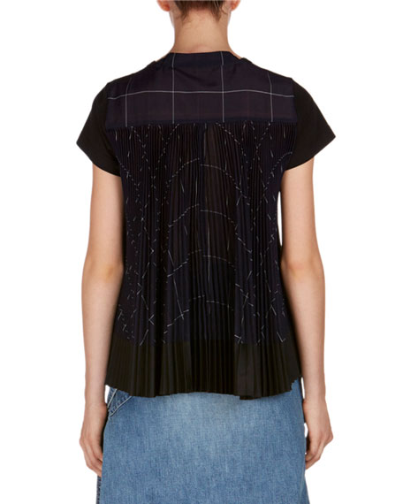 Short-Sleeve Top w/Pleated Back