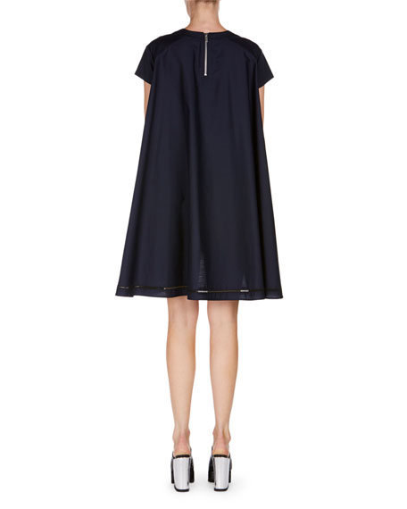 Lace-Up Swing Dress