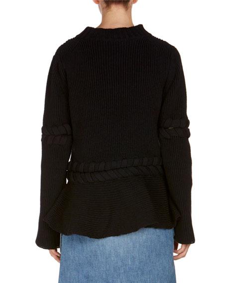 Knit Ruffle-Hem Sweater