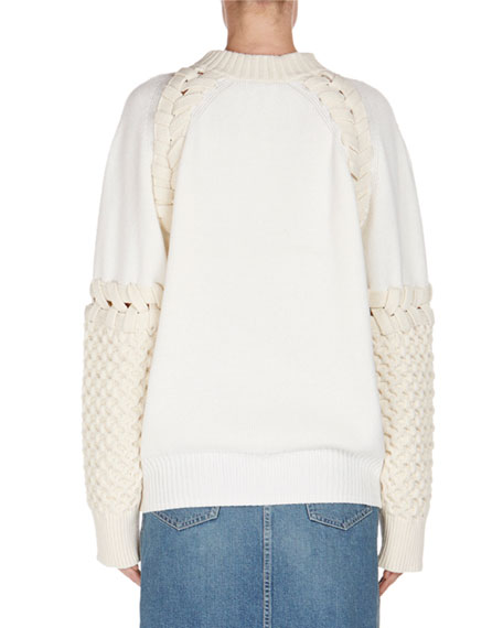 Whipstitched Knit Sweater