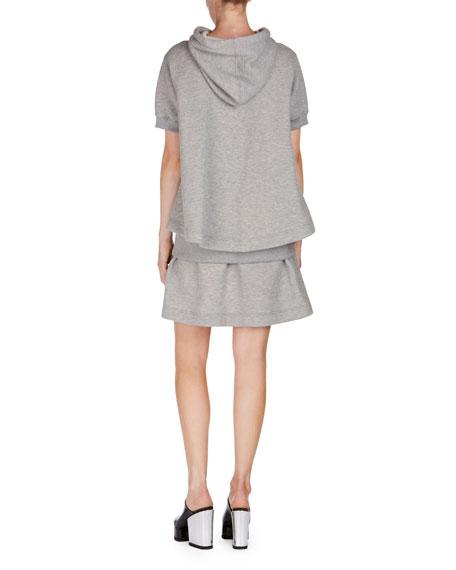 Short-Sleeve Hooded Sweatshirt Dress