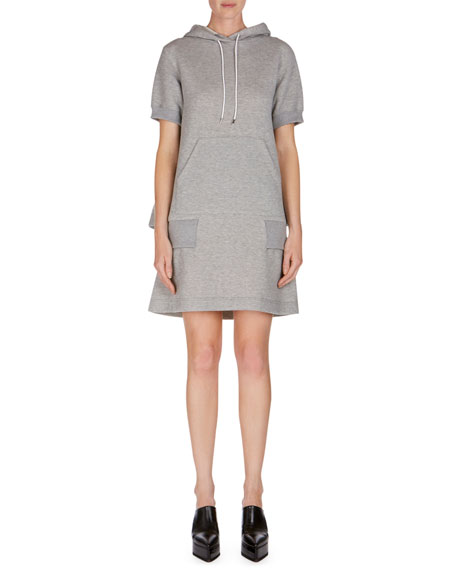 Short-Sleeve Hooded Sweatshirt Dress