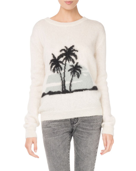 Knit Palm Tree Sweater