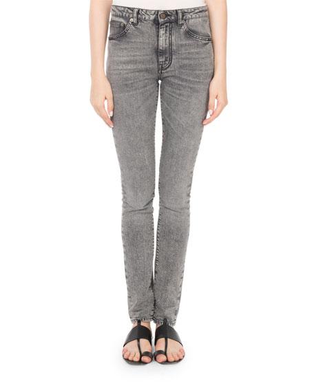Stonewash Denim Skinny Jeans