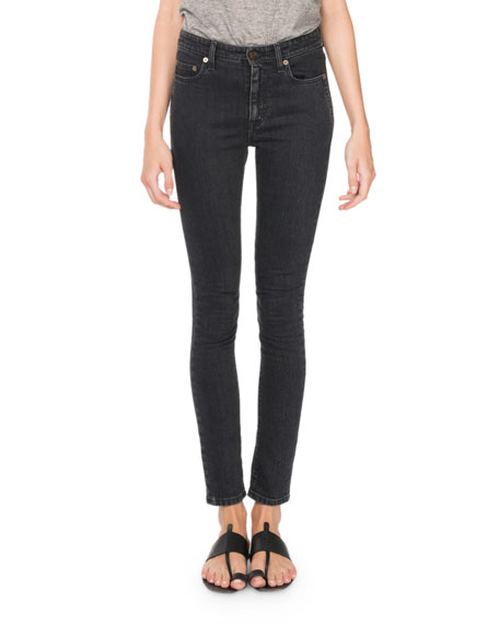 Skinny Mid-Rise Denim Jeans