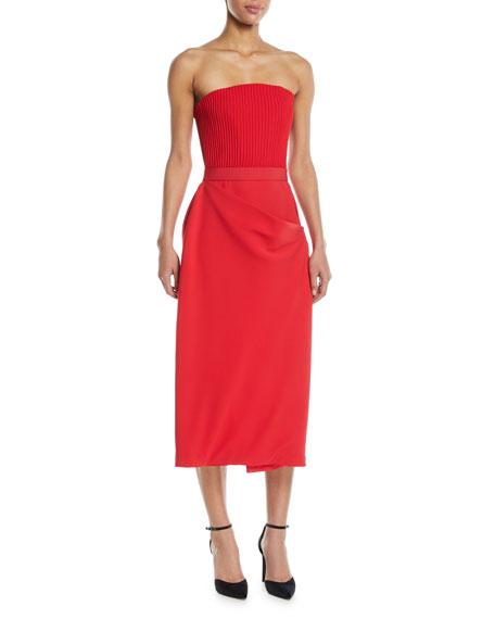 Convertible Apron-Front Silk Dress