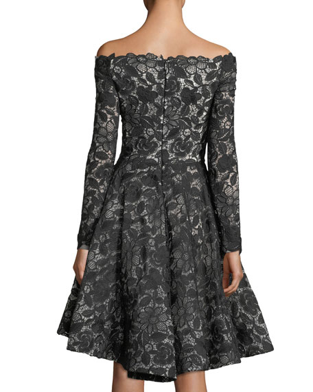 Off-Shoulder Lace Dress