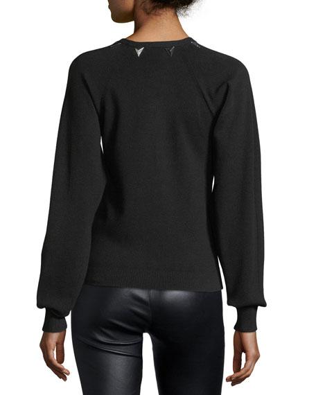 Embellished Full-Sleeve Sweater