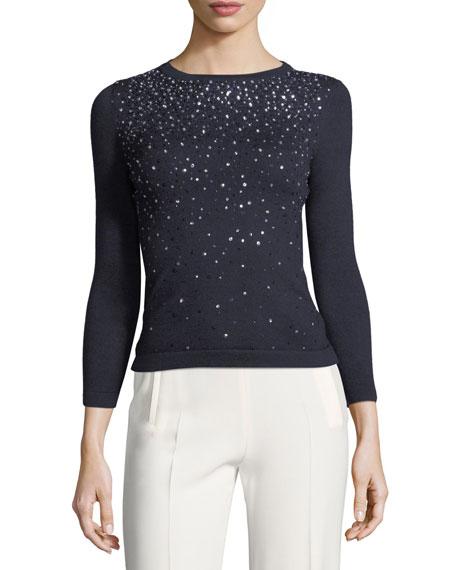 Crystal-Embellished Sweater