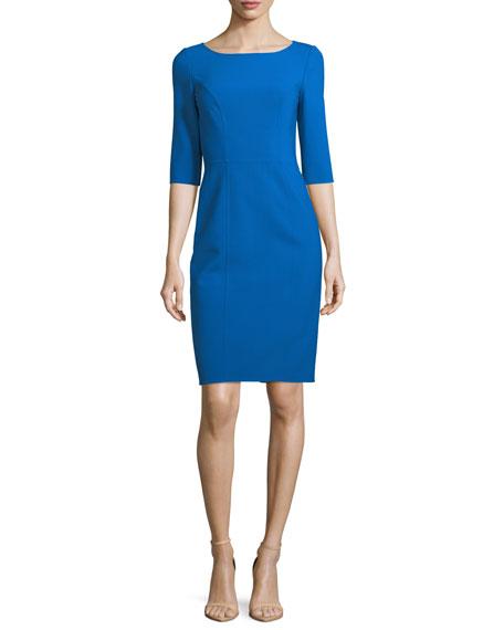 3/4-Sleeve Sheath Dress