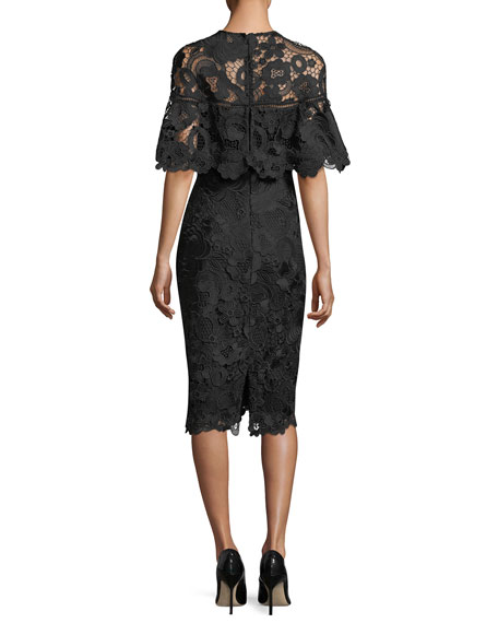 Lace Capelet Sheath Dress