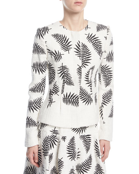 Leaf-Embroidered Jacket