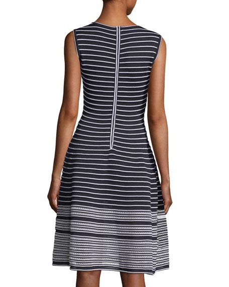 Sleeveless Striped Day Dress