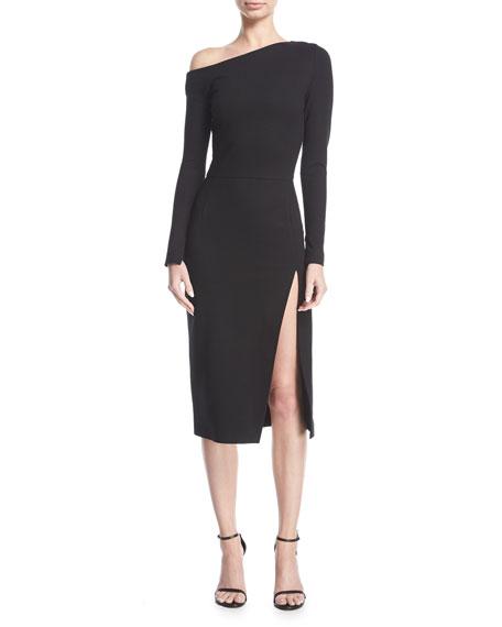 Off-Shoulder Long-Sleeve Dress