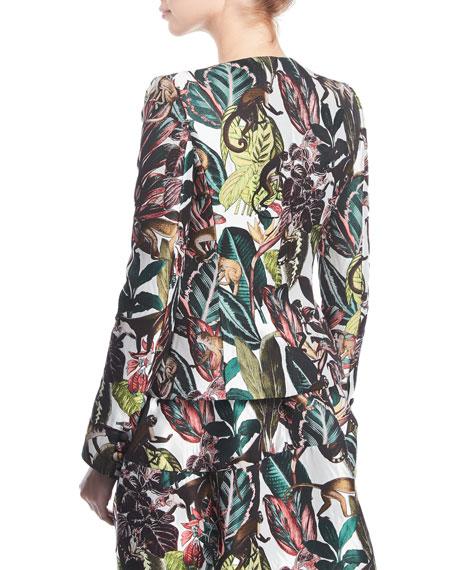 Jungle Jacquard Button-Front Jacket