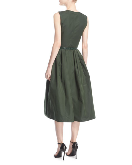Sleeveless Sateen Cargo Dress
