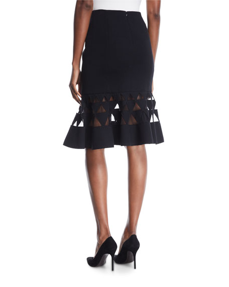 Flare Triangle Cutout Skirt