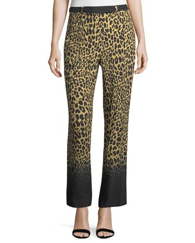 Ombre Leopard-Print Pants